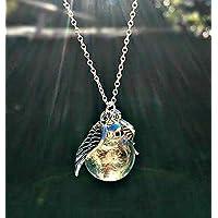 Sterlingsilber 925 kette EngelsFlügel Pusteblume anhänger Löwenzahn Halskette - Personalisierte schmuck geschenk Schutzengel Sympathie geschenk Für Frauen und Mädchen