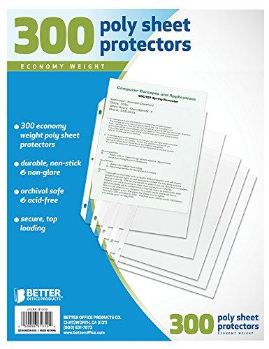 Besser Office Products Tabelle Protektoren, 300Zählen