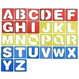 Tagaremuser 26Pcs Buchstabe Schablone Alphabet Stenciling für Malerei Kunsthandwerk Lernen DIY