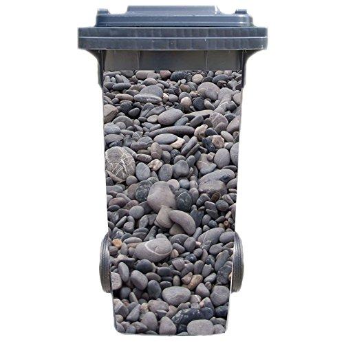 Preisvergleich Produktbild Mülltonnenaufkleber Motiv: Steine