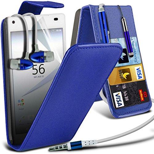 (Clear) Fall für <b>      Apple iPhone 6s hülle     </b>     Fall hochwertiges und haltbares Survivor TPU Clear Gel Case Hülle+ Aluminium Ohrhörer Ohrhörer von i-Tronixs Leather Flip + Earphones ( Blue )