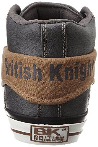 British Knights ROCO UOMINI ALTE SNEAKERS GRIGIO/COGNAC