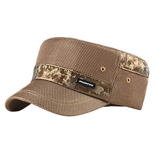 LSAltd Feste Krempe Flat Top Cadet Caps verstellbare Korps Vintage Flat Top Hüte (Blume Perle Caps)
