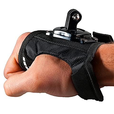 Action Outdoor ® Glove cuff with rotary action cameras support type GoPro or SJCAM