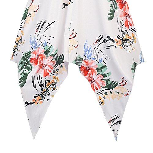 MNBS Femme Classique 1950S Style Ourlet A-ligne Élégant Robes Vintage Irrégulier Blanc