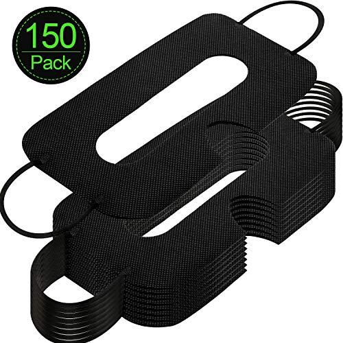 150 Packungen Einweg Maske Vlies Sanitär Augenmaske Weiße Augenmasken Abdeckung Kompatibel mit VR Headset H-T-C Vive Virtual Realität Headset (Schwarz)