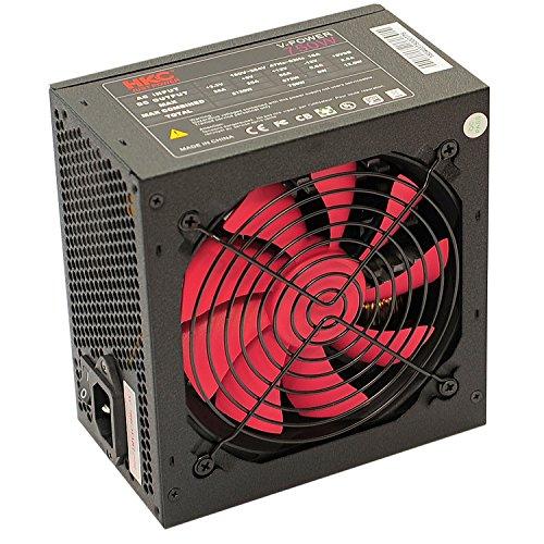 HKC® V-Power 750 Watt ATX PC-Netzteil, Schutzschaltkreise: Opp, OCP, OVP, SCP, 20+4pin Stromversorgung, Aktiv PFC, Leise, 120mm Fan (V-750) -