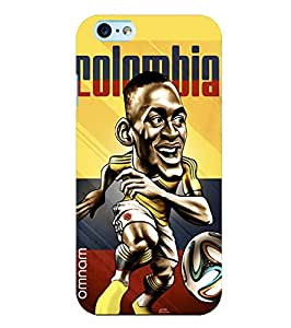 Omnam Colombia Football Cartoon Designer Back Cover Case For Apple iPhone Plus