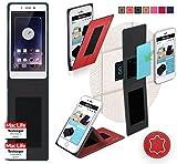 Oppo Mirror 5 Hülle Cover Case in Rot Leder - innovative 4