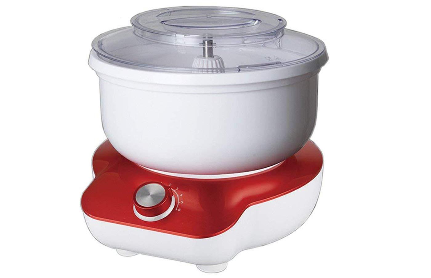 DMS-5-Liter-Kchenmaschine-1400W-Knetmaschine-Rhrmaschine-Plastikschssel-Pulse-Funktion-und-Spritzschutz-KMP-1400WR