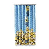 Universal Studios Minion Mayhem Microfiber Shower Curtain, 72-Inch by 72-Inch by Franco Manufacturing