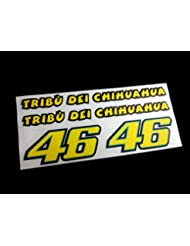 PEGATINAS ROSSI 46 MOTO GP REF:ECO08 STICKERS VALENTINO AUFKLEBER DECALS ADESIVI (COLORES IMAGEN ROSSI/IMAGE COLORS ROSSI)