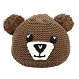 Baby Boy Hat - YOPINDO Winter Warm Babies Girls Gorro Gorros Snow Snowboard Knitted Bear Cute Little Hat Gorras (marrón)