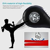 1Ud Almohadilla de Taekwondo Kick Pad Doble Capa Cojín Entrenamiento Artes Marciales - Negro