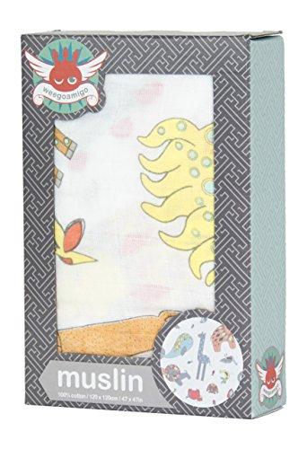 Little Linen WGASPM2320 Musselin Tuch ZOO