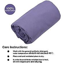Topnaca - Saco de dormir de algodón coreano, sábana, suave, ligero, transpirable y cómodo, cálido, amplio; para camping, viajes, de albergues juveniles, picnic, senderismo, Infantil Unisex hombre mujer, Púrpura oscuro