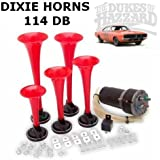 Dixie Horn 114DB Extra Loud Dukes of Hazzard horn with pump and fittings 12Volts