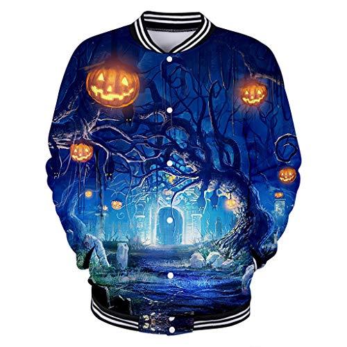 Beonzale Halloween kostüm Frauen-Halloween- Oversized Coat Outwear Kapuzenpullover Horror-Druck-Partei-Lange Hülsen-Pullover-mit Kapuze - Tv Figur Kostüm Einfach