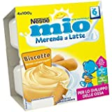 Nestlé Mio Merenda al Latte Biscotto da 6 Mesi 4 Vasetti Plastica da 100g