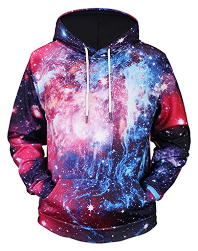 Pizoff Unisex Hip Hop Sweatshirts druck Kapuzenpullover mit Bunt 3D Digital Print Y1760-75