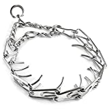 #3: Hasti 45/50/55/60cm Adjustable Dog Training Collar Chain Pet Supply Metal Steel Prong