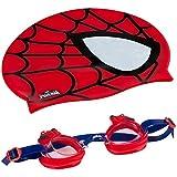 EOLO - Gorro y gafas para natación infantil Spiderman (ColorBaby 53451)