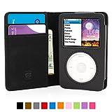 Snugg iPod Classic Hülle, Apple iPod Classic Handyhülle mit Kartenfach und Standfunktion - Schwarz, Legacy Range