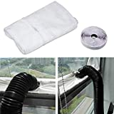 Blinngo Fensterabdichtung Für mobile Klimageräte und Abluft-Wäschetrockner 400cm Universal Window Seal for Portable Air Conditioner