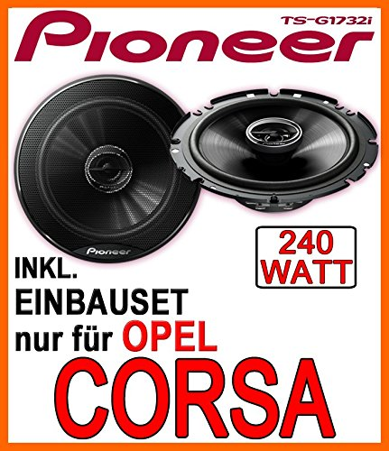 Opel Corsa B, C, D - Lautsprecher -Pioneer TS-G1732i - 16cm Einbauset