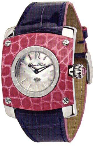 Glam Rock Watch GR50005 - Reloj de Mujer de Cuarzo, Correa de Piel Color Morado