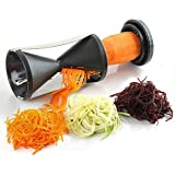 New Spiral Fruit & Vegetable Slicer With Stainless Steel Blades