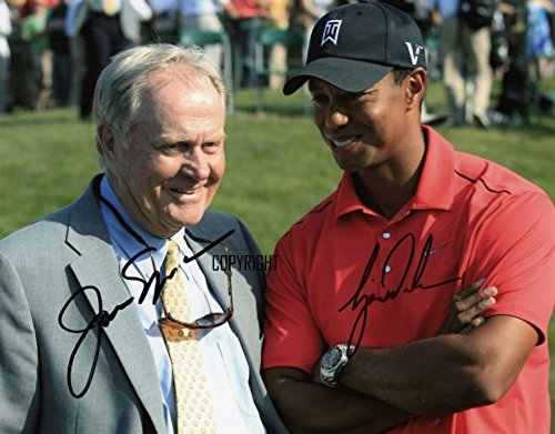 Limited Edition Tiger Woods Jack Nicklaus Signiert Foto Autogramm signiertsigniertes Jack Nicklaus Foto