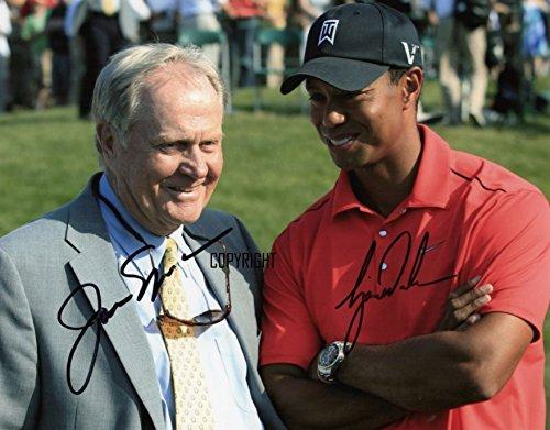 Limited Edition Tiger Woods Jack Nicklaus Signiert Foto Autogramm signiertsigniertes