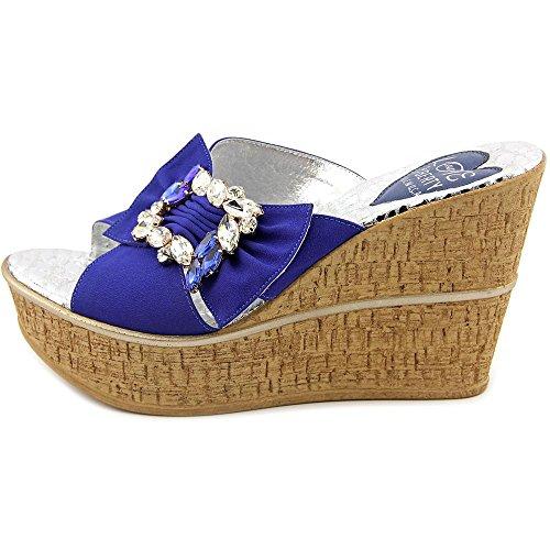 Love and Liberty Lola Femmes Toile Sandales Compensés blue