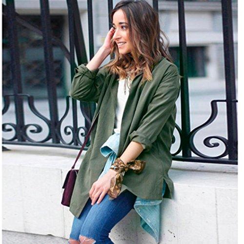 Zolimx Mode Frauen Dünne Jacke Windbreaker Outwear Wolljacke Mantel - 2
