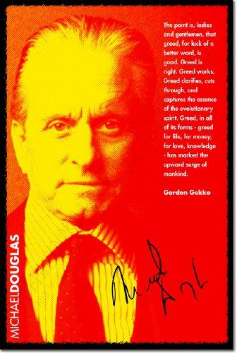 michael-douglas-poster-fotografico-greed-con-replica-di-autografo-rara-stampa-artistica-idea-regalo-