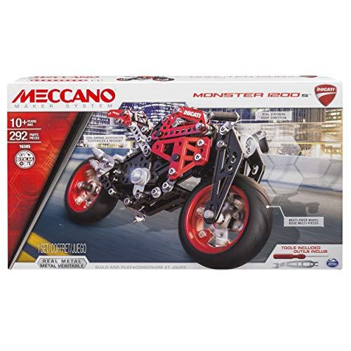 Meccano- Ducati Monster 1200s Confezione per Costruire, Multicolore, 294 Pezzi, 6027038