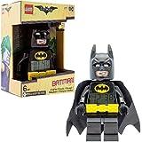 LEGO Batman Film Batman Kinder Minifigur Wecker Kabel | schwarz/gelb | Kunststoff | 24,1cm hoch | LCD Display | Boy Girl | Offizielles
