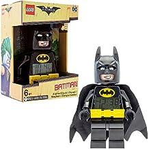 Despertador Infantil con Figurita de Batman de BATMAN: LA LEGO PELÍCULA 9009327 Negro/Amarillo|Plástico|24 cm de Altura|Pantalla LCD|Chico Chica|Oficial