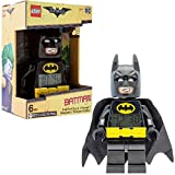 LEGO Batman Movie 9009327 Sveglia per bambini con minifigure Batman| plastica | 24 cm di altezza | Schermo LCD | nero/giallo | per i bambini | ragazza/ragazzo