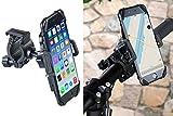 Callstel Handyhalterung Fahrrad: Fahrrad-Halterung mit Gummifixierung für Smartphones bis 10 cm Breite (Handy Fahrradhalterung)