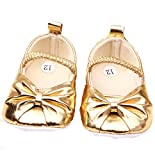 Golden ballerina Baby shoes girls shoes prewalker first walker baby shoes (6-10 Months)
