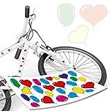 style4Bike Luftballon Aufkleber Bunte Kinderaufkleber für Fahrrad und Kinderrad Lustige Kinderaufkleber