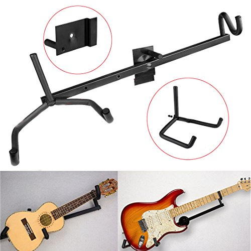wss- schwarz Horizontal Gitarre Wand Aufhänger Display Halterung–Elektro-, Akustik Gitarre, Classic, Bass & Ukulele