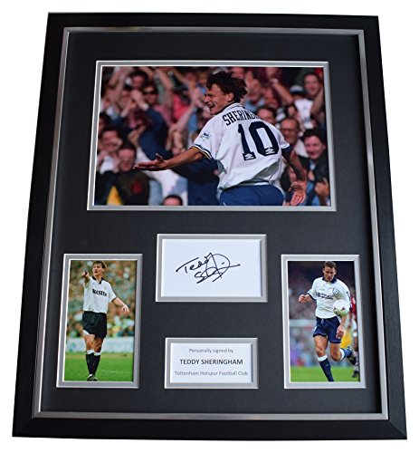 Sportagraphs-Teddy-Sheringham-SIGNED-Framed-Photo-Autograph-Huge-display-Tottenham-Hotspur-PERFECT-GIFT