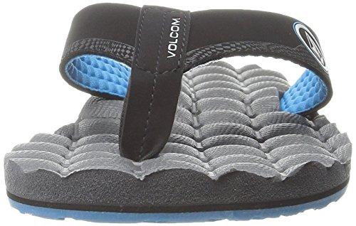 Volcom Recliner Sndl, Tongs homme Gris - Grau (Grey Blue GBL)