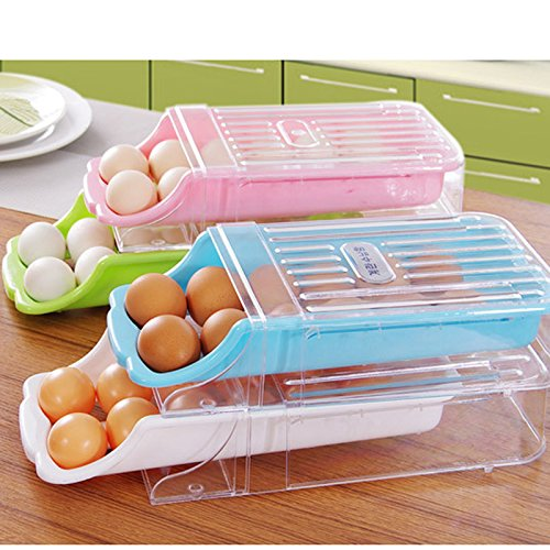 Zantec-Halter-Küchen-Kunststoff, Kühlschrank-Schubladen-Ei-Halter-Behälter Schutzhülle für Wandmontage, grün Schubladen Tool Box