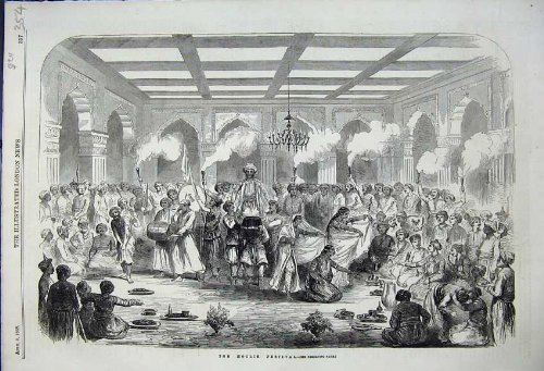 1858 die Hoolie-Festival-Indien-Indische SozialGeschichte