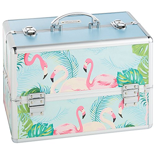 beautify-professional-large-lockable-vanity-make-up-beauty-storage-case-tropical-flamingo