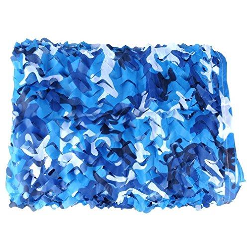 XUE Tarnnetz Blau für Jagd Wildtier Fotografie Sonnenschutz Camping Camouflage Deko 1,5x2M 2x2M 1,5x3M 2x3M 1,5x5M 2x4M 3x3M 2x6M 3x4M 3x5M 2x8M 4x4M 3x6M 4x5M 4x6M 5x5M 5x6M 6x6M